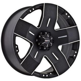 18x9 Ballistic Wheels 901 Hyjak 5x127 ET12 Flat Black 1 New Rim