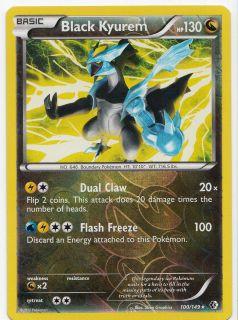 Pokemon Black Kyurem 100 149 Boundaries Crossed RARE Rev Holo Mint