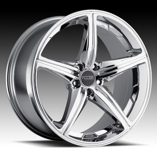 22 x9 FOOSE Speed F135 Chrome 5 Lug Wheels Rims