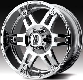18 inch x9 KMC XD Spy Chrome Wheels Rims 8x6 5 8x165 1