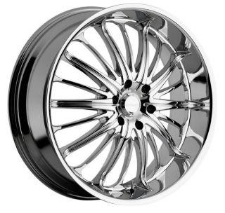 22 inch 22x9 5 Akuza Belle Chrome Wheels Rims 6x135 35