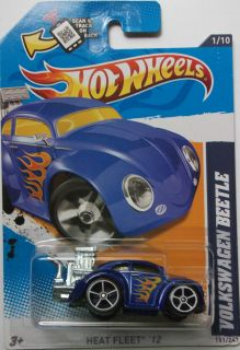 2012 Hot Wheels Volkswagen Beetle Col 151 Chrome Exhaust Version