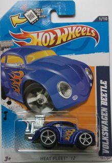 2012 Hot Wheels Volkswagen Beetle Col 151 Chrome Exhaust Version