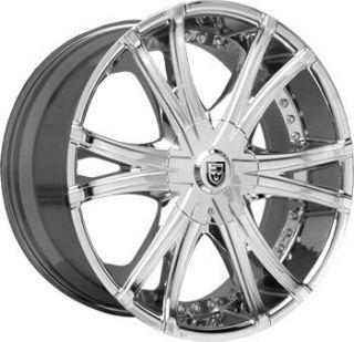 22 x10 Lexani Wheels LX 12 Chrome Rim Land Cruiser LX470 Tahoe