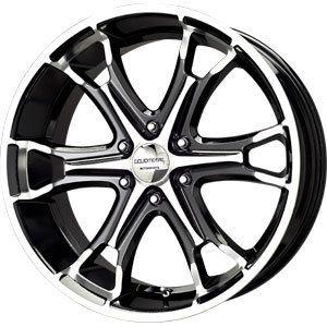 New 20x9 6x139 7 Liquid Metal Coil Black Wheels Rims