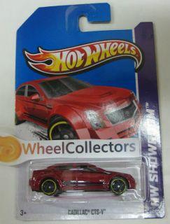 Cadillac cts V Dark Red 152 2013 Hot Wheels Case G