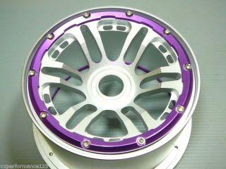 2X Front 12 Spoke CNC Alloy Wheel Rims HPI Baja 5B KM