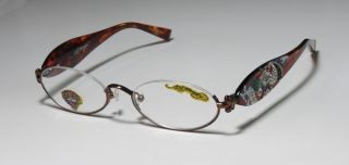 New Ed Hardy EHR 202 49 18 140 Half Rim Eyeglass Glasses Frame 2 00