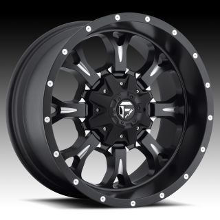 Offroad 18x9 KRANK XD 18 inch Chevy FORD Dodge Black WHEELS RIMS Set