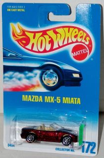 Hot Wheels Mazda Miata MX 5 SP7 Wheels Collector 172 Malaysia 1997