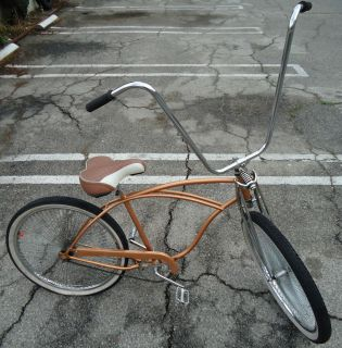 Beach Cruiser, Bicycle, w/Apehangers, Lowrider Rims, New Parts, Copper