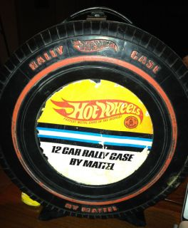 Vintage Hot Wheels Redline 1967 12 Car Rally Case Good Shape