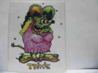 Rat Fink Decal Sticker Trixie