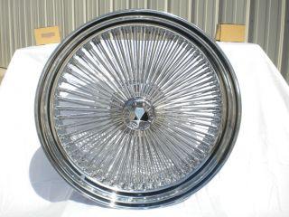 20 Dayton Chrome 20x8 Wire Wheels Full Set Rims New Rear Wheel Drive