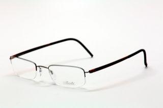 Silhouette Zenlight Half Rim Eyeglasses 7785 Black Red Flames Optical