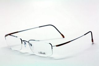 Silhouette Titan Dynamics Half Rim Eyeglasses 7791 Brown Gold Optical