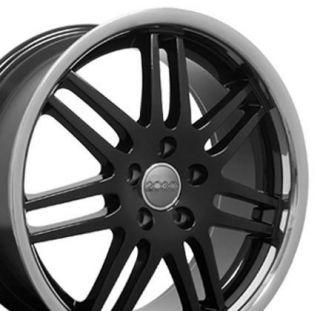 Single 18 x 8 Black RS4 Deep Dish Wheel Fits Audi A4 A6 A8