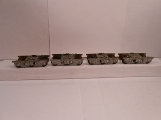 Vintage HO Scale Metal Heavyweight Passenger Car Trucks w Brass Wheels