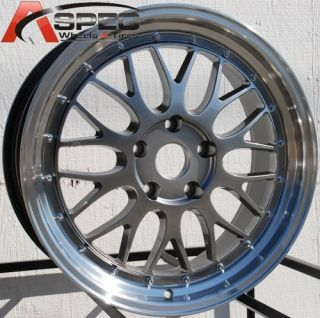 18X8 LM STYLE WHEELS 5X114 3 RIM FIT CIVIC 2006 2007 2008 2009 2010