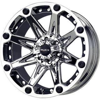 20 inch Ballistic Jester Chrome Wheels Rims 8x170 12