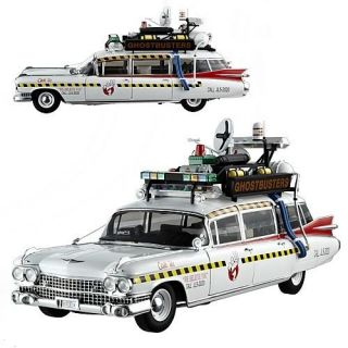 Ghostbusters 2 Ecto 1A Hot Wheels Elite 1 18 Scale Vehicle PRESALE