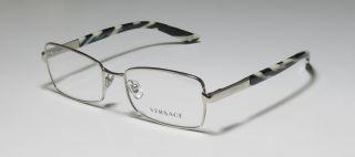 52 17 135 Silver Zebra Full Rim Eyeglasses Glasses Frames Mens
