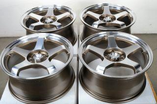 Polished Effect Wheels Camry RSX Acura Mazda 3 6 WRX 5 Lug Rims