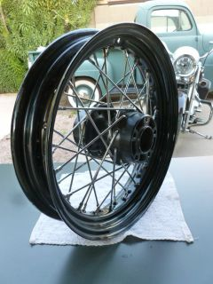 Harley Davidson 16 Black Rim Spoke Wheel Sporty Fatboy Softail