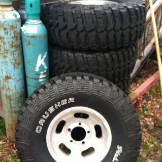 1974 Jeep CJ5 Factory Slots Wheels and 33x12 50x15