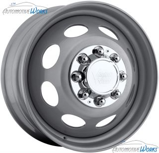 75 Vision Hauler Dually Steel Front 8x200 Silver Wheels Rims Inch 19 5