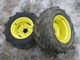 Deere 212 Tractor Carlisle 23x10.50 12 Rear Tires & Rims   Bar Lug Ag