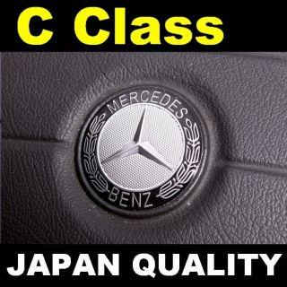 Mercedes Benz Black Logo C Class Steering Wheel Emblem Horn Badge W202