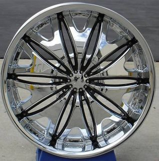 26 Inch Velocity V820 Chrome new Wheels Tires 305 35 24 fit Chevy Ford
