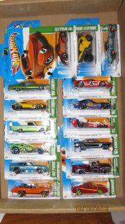 Complete Set of 15 2012 Hot Wheels Regular Treasure Hunt Cars