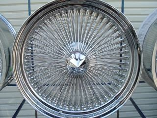 18 100 Spoke Lowrider Wire Rims Chrome Wheels Buick