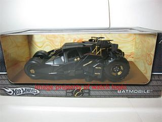 NEW RARE BATMAN DARK KNIGHT TUMBLER BATMOBILE HOTWHEELS 1 18 DIE CAST