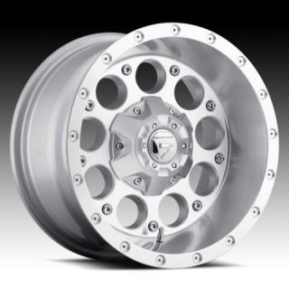 Revolver 17x9 0 Silver Machined Wheel Set Truck Rims Wheels