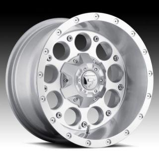 Revolver 17x9 0 Silver Machined Wheel Set Truck Rims Wheels