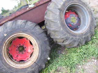 Vintage Massey Ferguson Tractor 18 4 x 26 Rear Tires Rims 1959