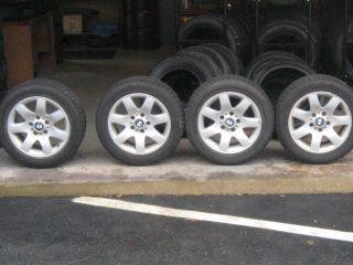 BMW 16 Wheels 7 Spoke Rims 1094498 Bridgestone Blizzak WS 60 205 55R16