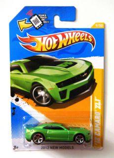 Hot Wheels 2012 New Models 9 247 Chevy Camaro ZL1 Green w Black Stripe
