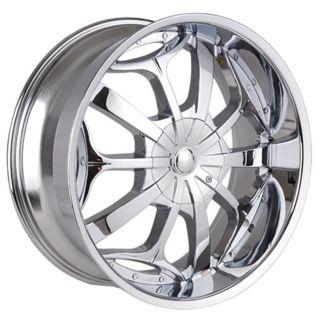 24 inch Chrome 701 s Rims Wheels Tahoe Escalade Denali