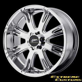 x9 Dale Jr DJ708 Ribelle PVD Chrome 5 6 8 Lugs Wheels Rims FREE LUGS