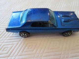 Hot Wheels Redline 1968 Blue Custom Cougar Real Nice