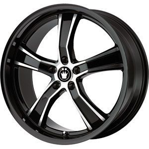 New 18x8 5x112 Konig Airstrike Black Wheels Rims