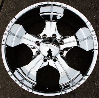 Panther Realm 280 22 Chrome Rims Wheels Dodge RAM 2500 8 Lug