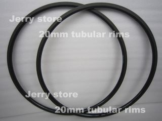 20mm Tubular Carbon Fiber Bike Rims 700c Super Light and Quick