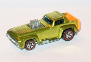 1971 Hot Wheels Redline Short Order Yellow HK Near Mint w Badge