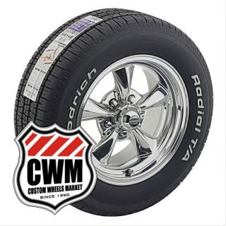 15x7 15x8 Polished Wheels Tires 215 65R15 245 60R15 for Chevy Blazer