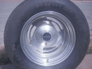 Set of 4 15x50 10 inch Aluminum Rims Came Off Chevy Truck